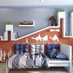 Комната с интересным дизайном