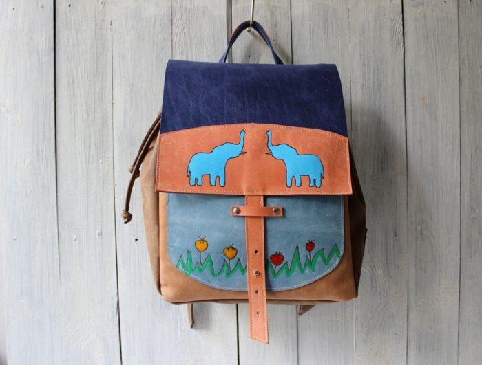 Рюкзак со слониками