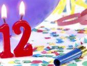 Цифра 12 - зажжённые свечи