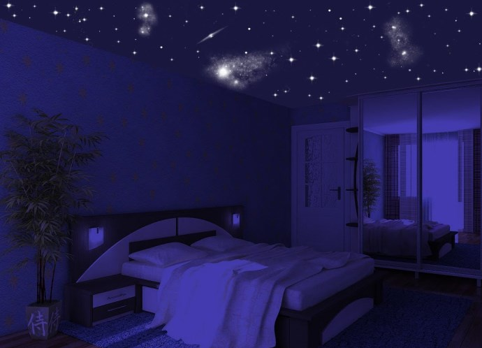 Проектор звёздного неба в комнате