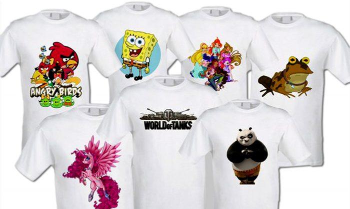 Семь футболок с фотопечатью