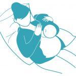 Поза через плечо при грудном вскармливании