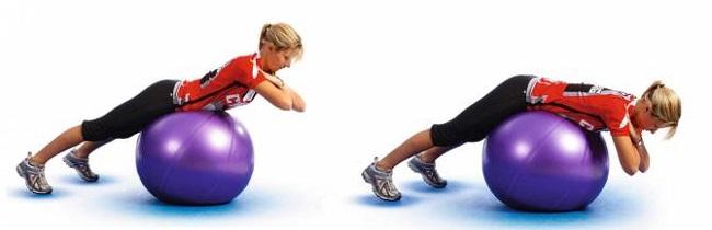 Гиперэкстензия на фитболе