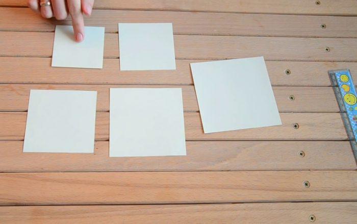 Заготовки из бумаги для открытки