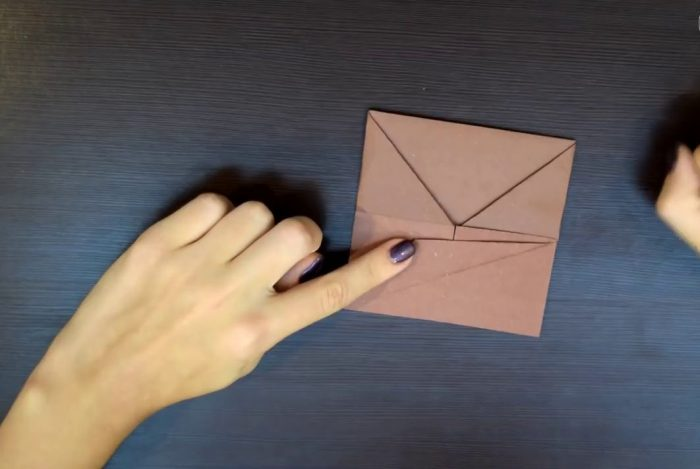 Изготовление собаки оригами