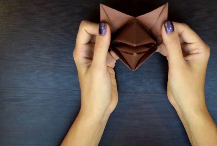 Готовая собака оригами