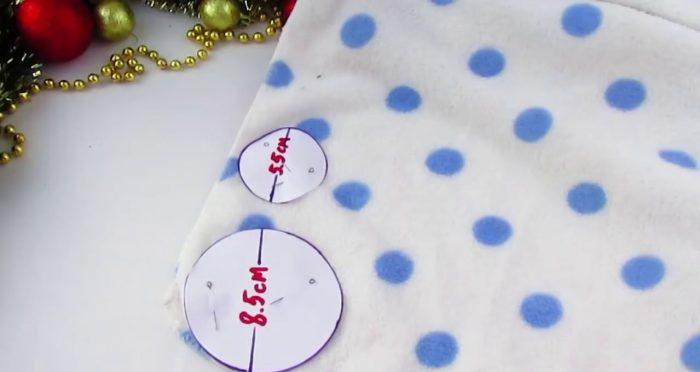 Выкройка для снеговиков из ткани