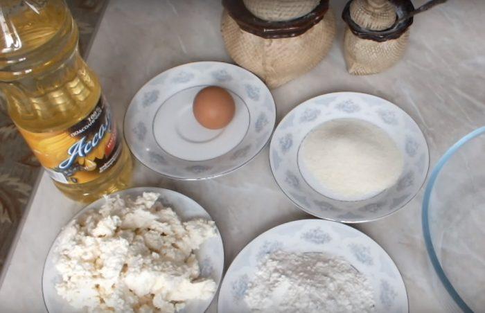 Набор продуктов для сырников