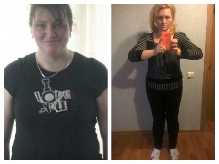 Фото женщины до и после диеты Магги