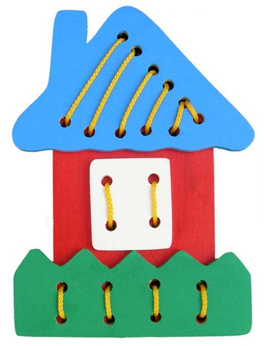 Объёмная шнуровка в виде домика
