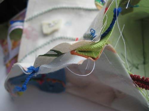 Развёртка сшивается в виде куба