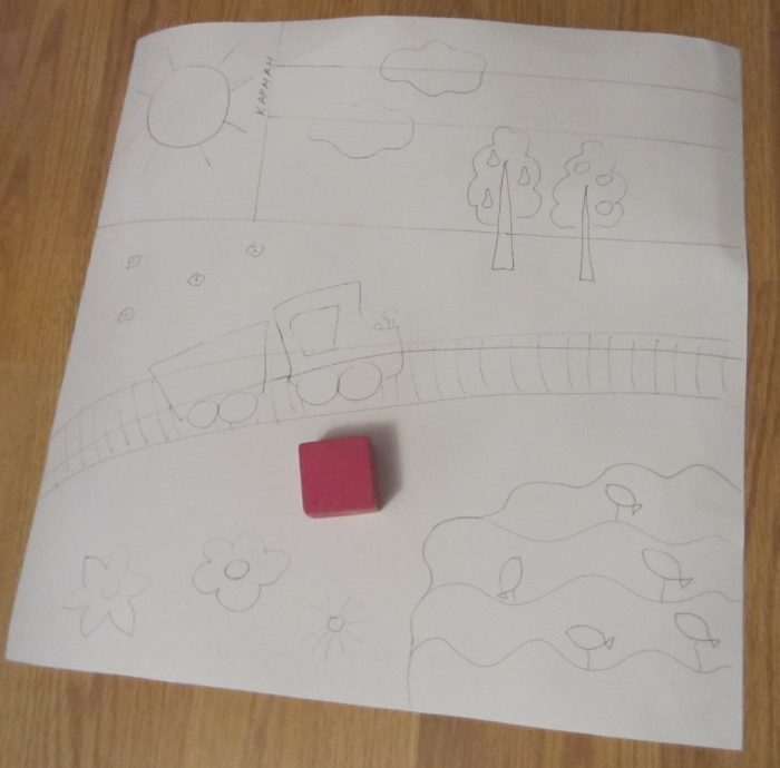Эскиз будущей подушки