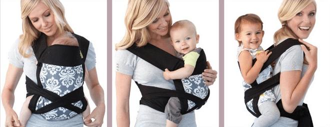 Положения для ношения ребёнка в май-слинге