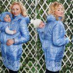 Варианты ношения ребёнка в слингокуртке
