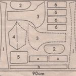 Схема расположения деталей на ткани