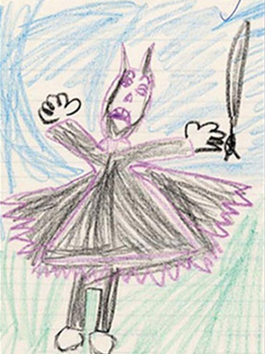 Ребенок нарисовал свой страх смерти