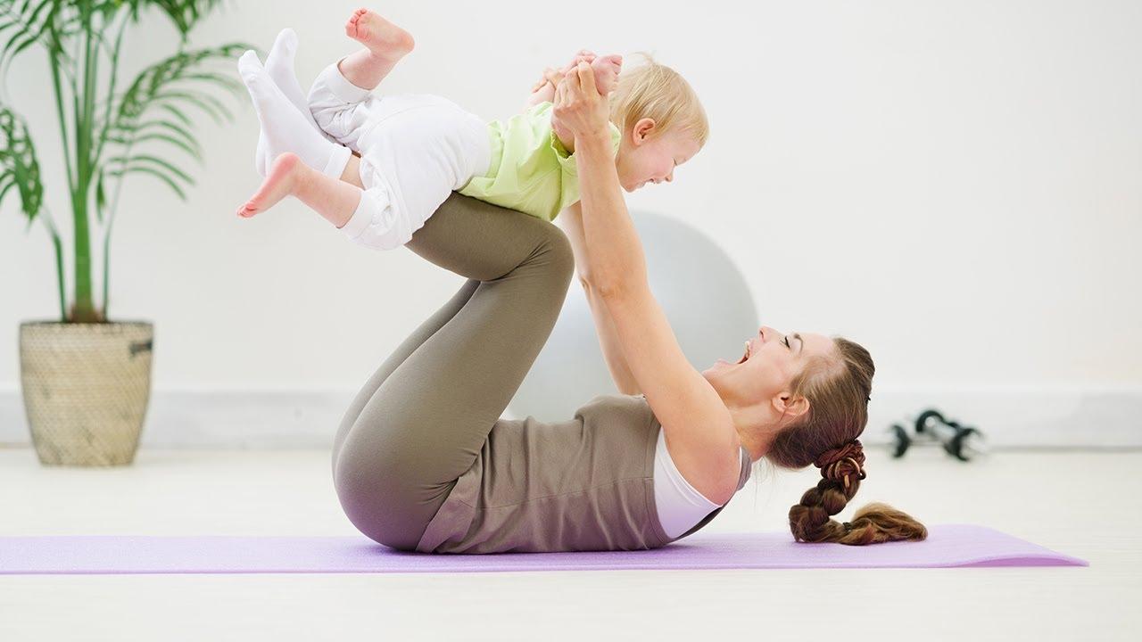 Какие упражнения помогут убрать живот после родов