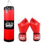 Боксёрский мешок и перчатки