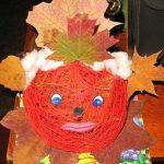 Осенний шарик из ниток