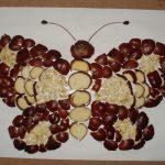 Бабочка из каштанов
