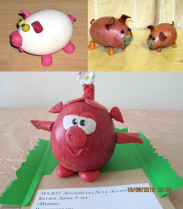 Свинки из продуктов питания