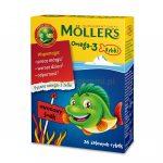 Детский рыбий жир Moller в картонной коробке