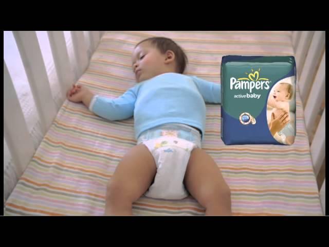 Кадр из рекламы детских подгузников