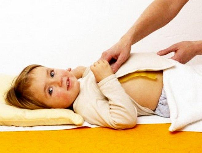 Медовая лепёшка у ребёнка