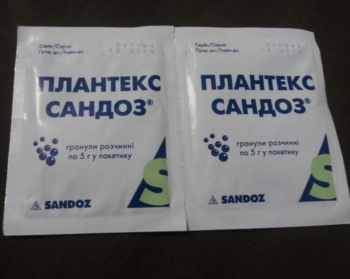 два пакетика Плантекса