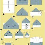 Схема изготовления коробки из бумаги