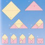 Схема изготовления простого конверта