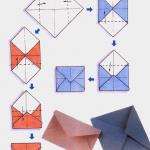 Схема изготовления конверта