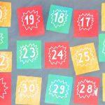 Цветные пронумерованные листочки бумаги