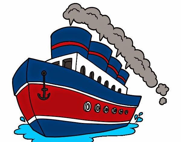 Картинка с изображением парохода