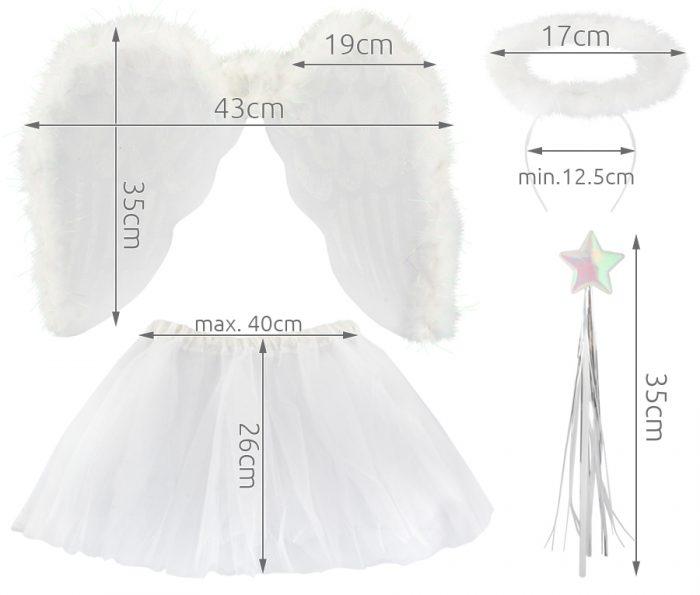 Размеры деталей костюма ангела