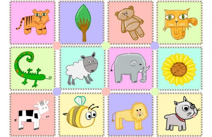 Плакат с изображением различных живых существ