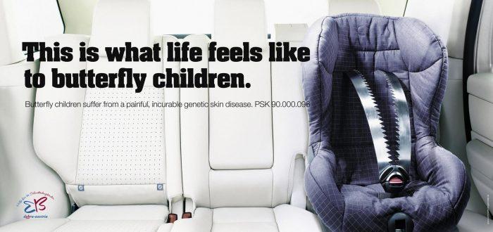 социальная реклама фонда помощи детям-бабочкам