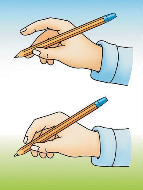 Правильный захват ручки во время письма
