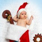 Малыш на новогодней фотосессии