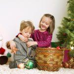 Новогодняя фотосессия брата и сестры