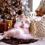 Новогодняя фотосессии мамы и малышки
