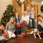 Новогодняя фотосессия большой семьи