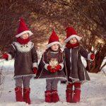 Новогодняя фотосессия детей на улице