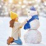 Новогодняя фотосессия со снеговиком
