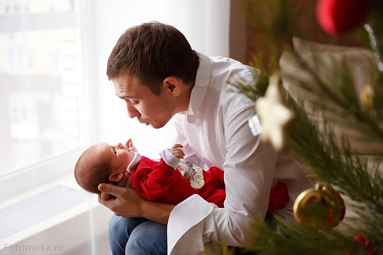 Грудной ребёнок и папа