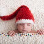Новогодняя фотосессия новорождённого