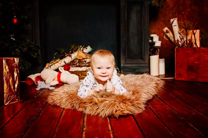 Годовалый ребёнок на фотосессии
