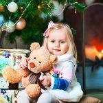 Дошкольница на новогодней фотосессии
