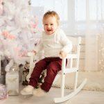 Новогодняя фотосессия маленького ребёнка