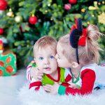 Новогодняя съёмка маленьких детей